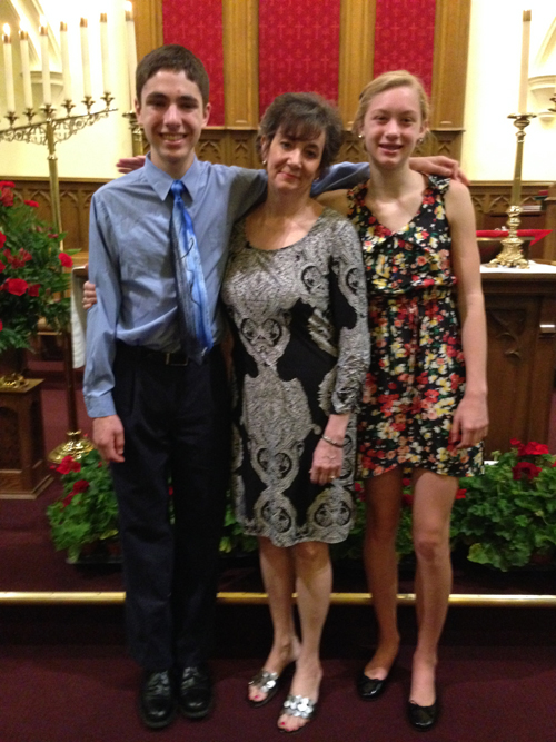 [Photo of Confirmands with Lisa Gordon]