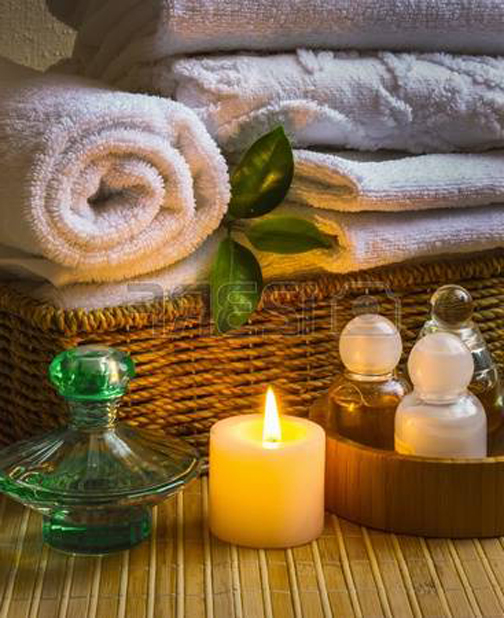 [Photo of spa items]