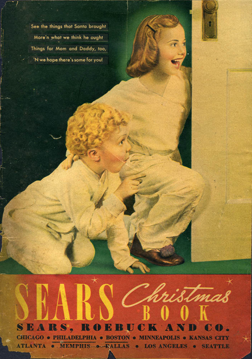 [Photo of an old Sears Chistmas Catalong]