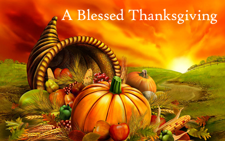 [Graphic of a Blessed Thanksgiving]