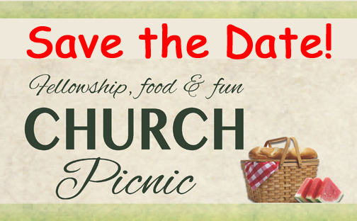 [Save This Date Church Picnic Graphic]