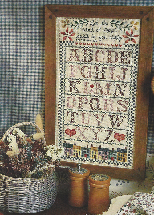 [Photo of a counted cross-stitch project]