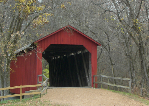 [Photo of a covered bridge]