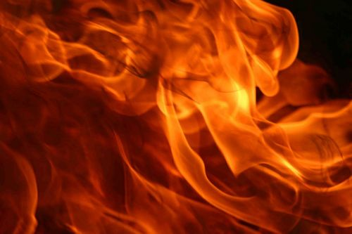 [Photo of flames]