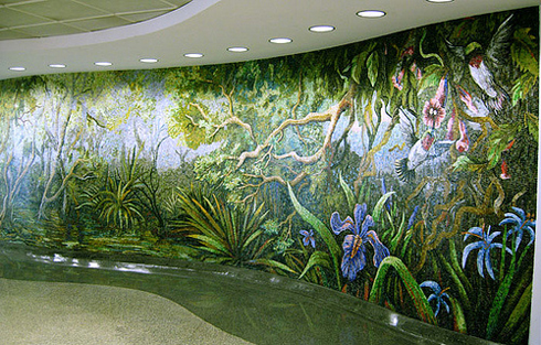 [Photo of a jungle mosaic]