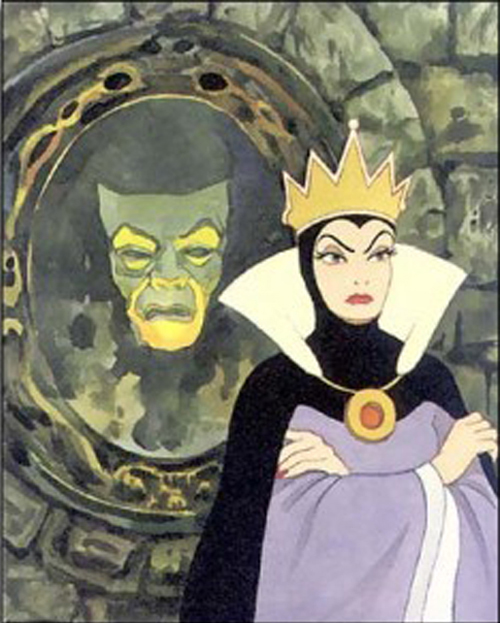 [Photo of the Evil Queen and the Mirror from Snow White]