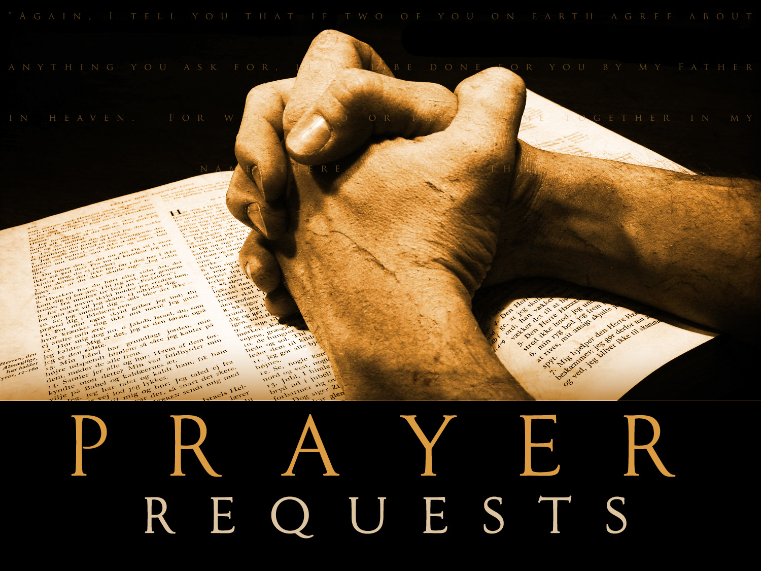 [Photo of Prayer Requests]
