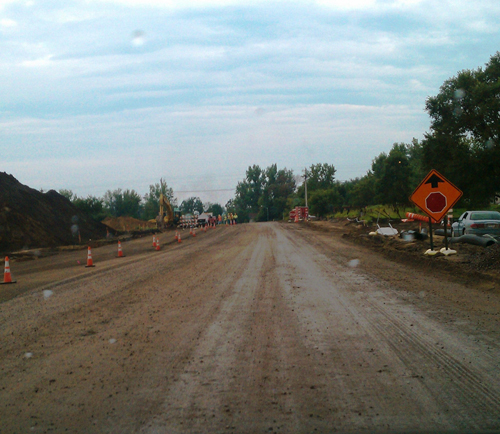 [Photo of road work]