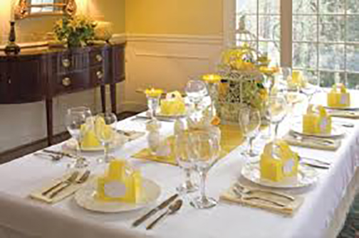 [Photo of a table setting]