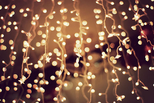 [Photo of white Christmas lights]