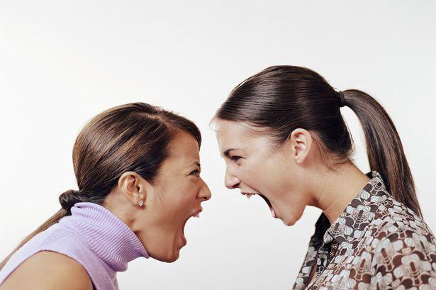 [Photo of  women arguing]
