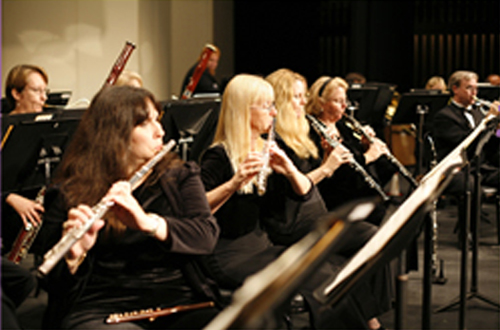 [Photo of the woodwind section of an orchestra]