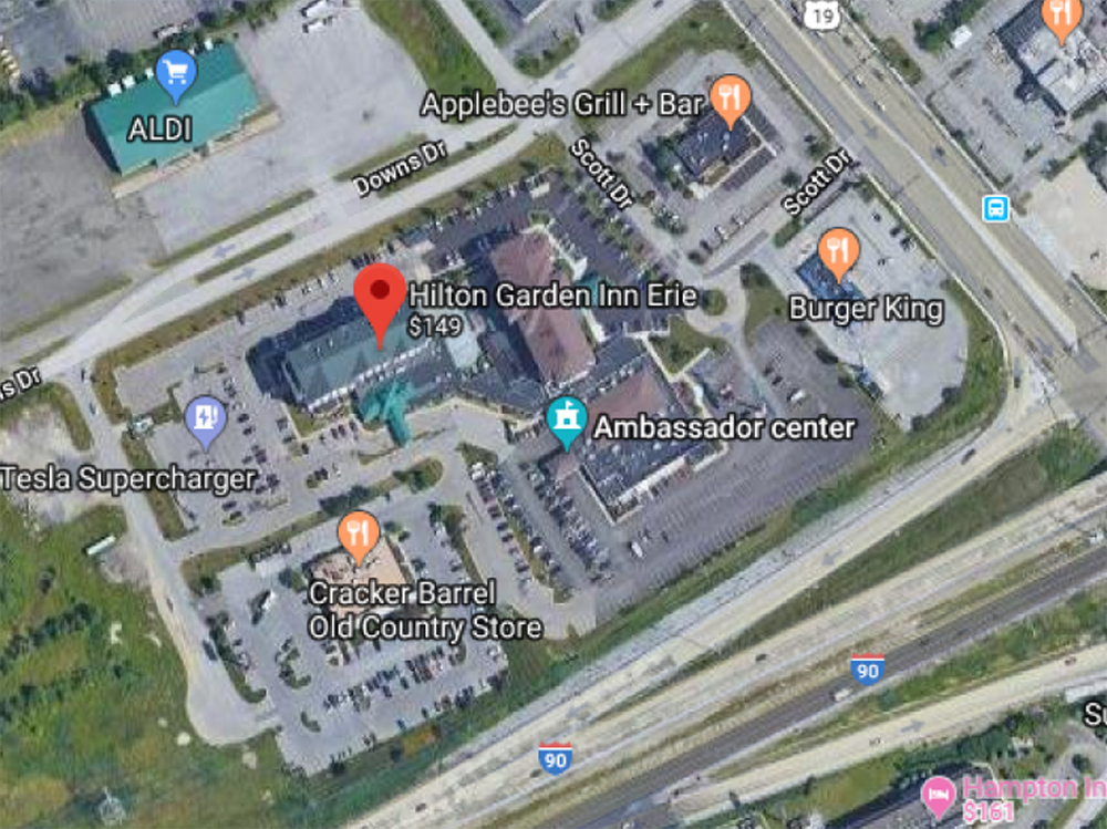 [Map of Hilton Garden Inn]