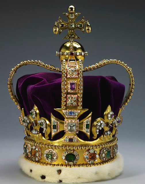 [Photo of St. Edwards Crown]