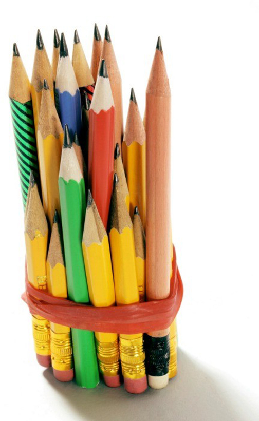 [Photo of pencil stubs]