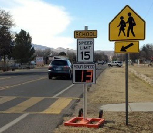 [Photo of a school zone]